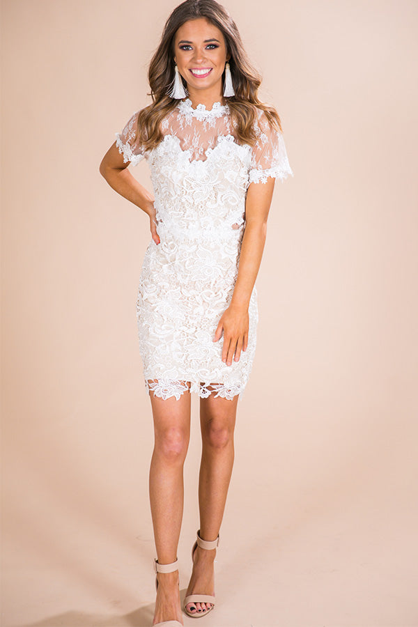 Ever After Crochet Dress In Ivory Impressions Online Boutique