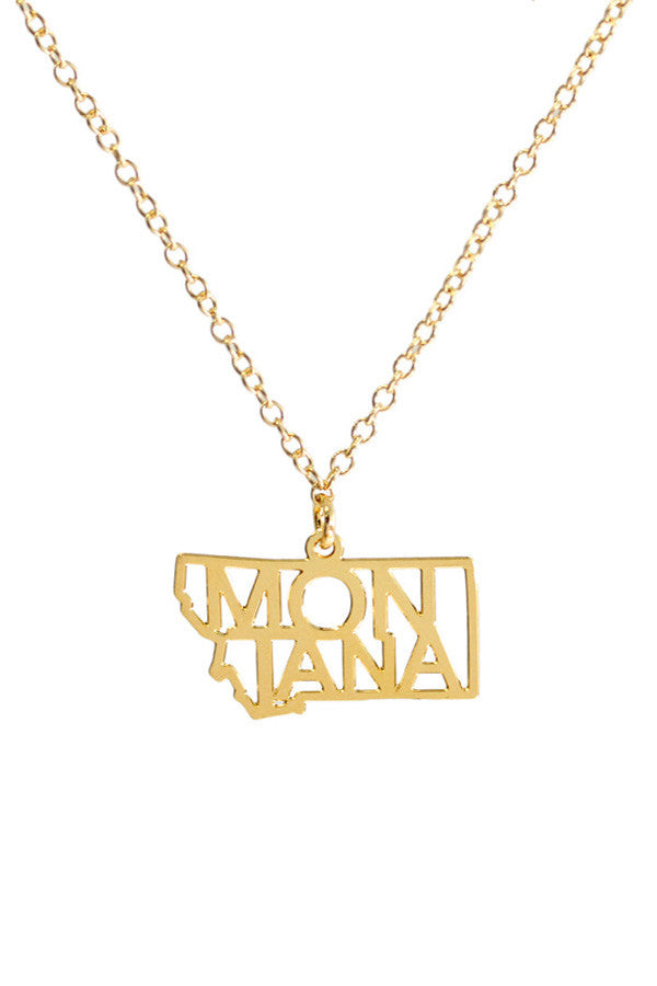Kris Nations State Pride Necklace Montana