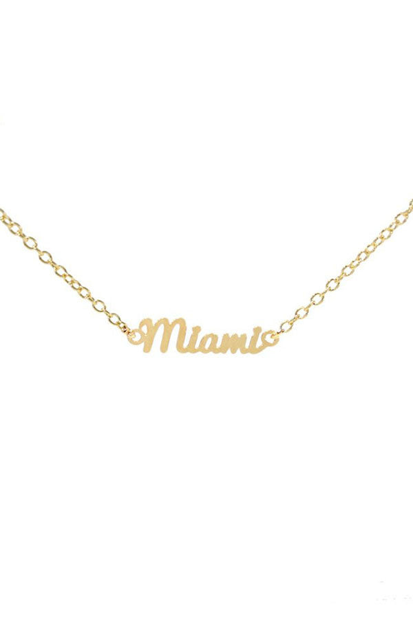 Kris Nations City Pride Series Necklace Miami