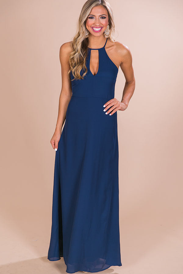 Sunset Ridge Maxi Dress in Navy