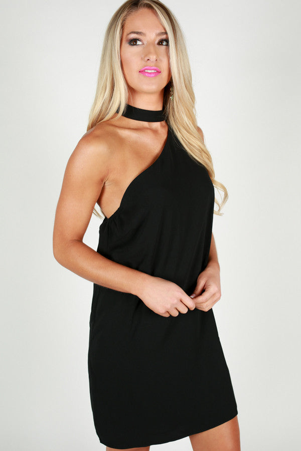 Dance With Me Shift Dress in Black