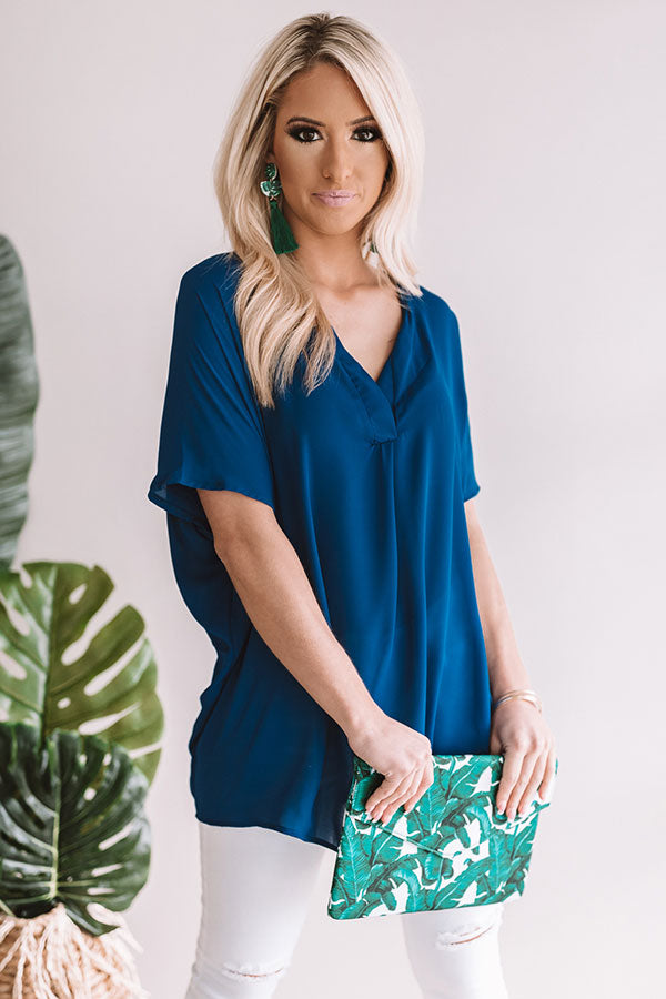 Light Up The Night Tunic in Royal Blue