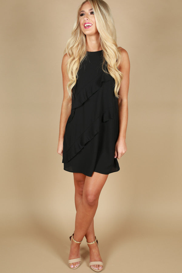 All The Right Ruffles Shift Dress