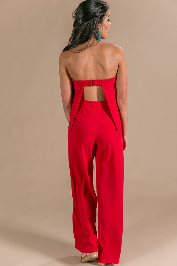 What A Babe Jumpsuit in Red