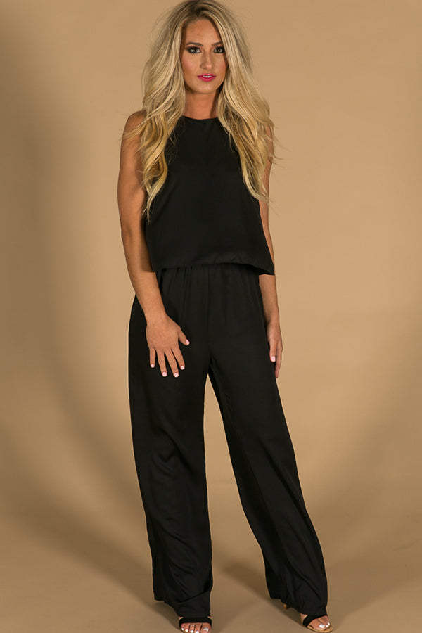 Suited For You Jumpsuit in Black
