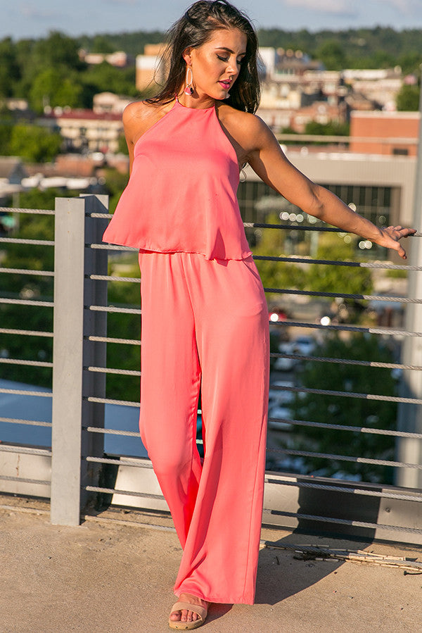 Suited For You Jumpsuit in Calypso