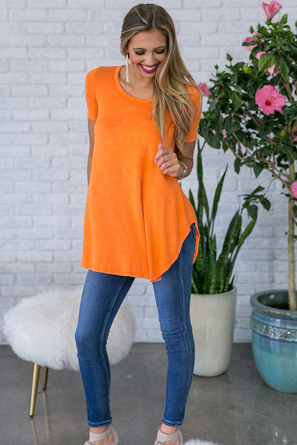Memories Made Vintage Tee in Persimmon