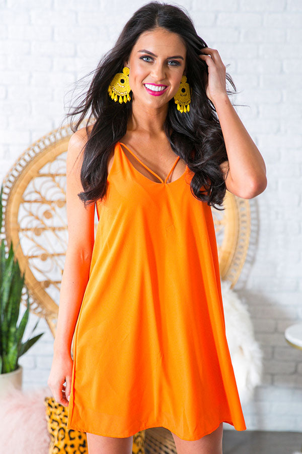 Watch Party Shift Dress in Persimmon