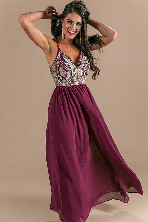 Cairo Nights Maxi Dress