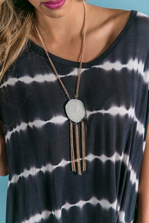 Talk Tropical To Me Agate Necklace In White