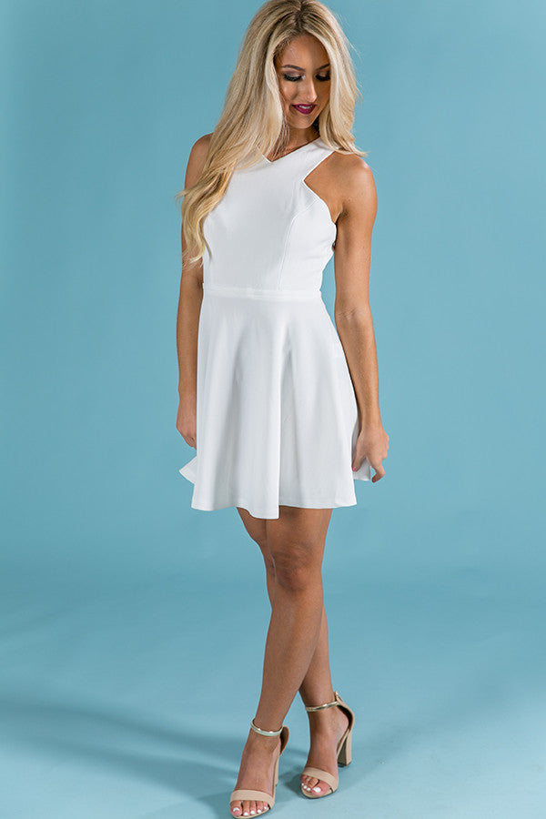 All My Love Fit and Flare Dress in White