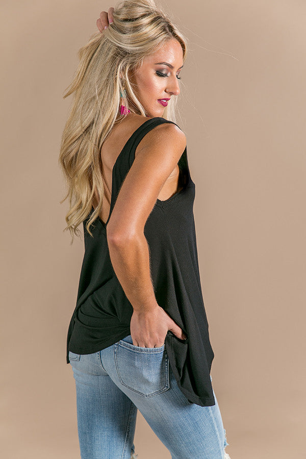 Take Me Out Shift Tank in Black