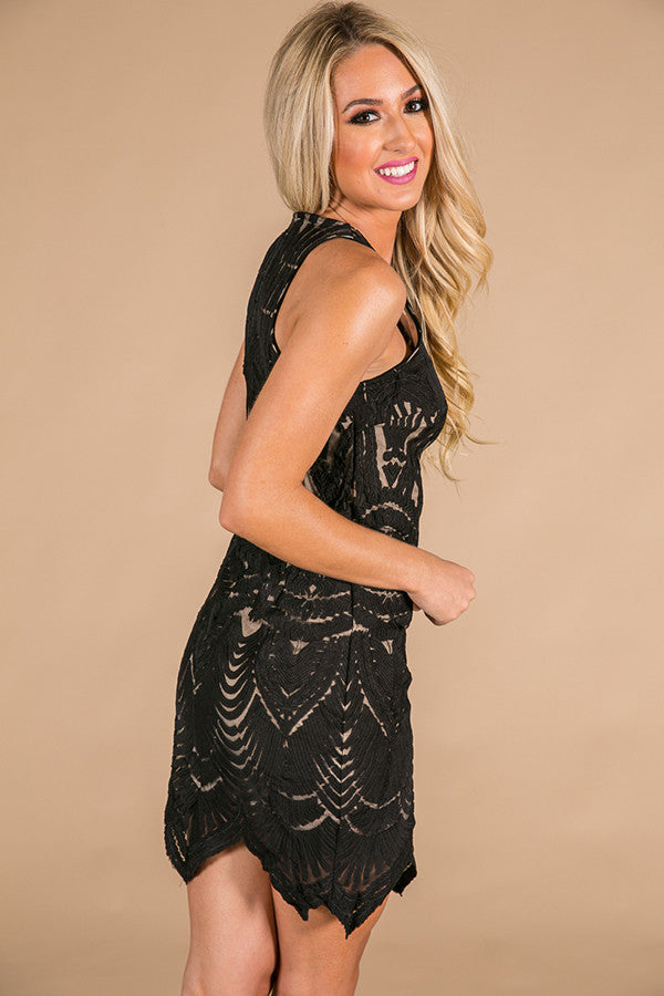 Dancing In Paris Dress in Black