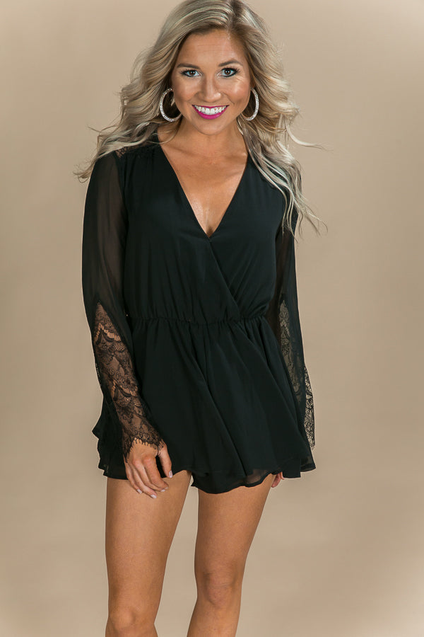 Kisses At Midnight Romper