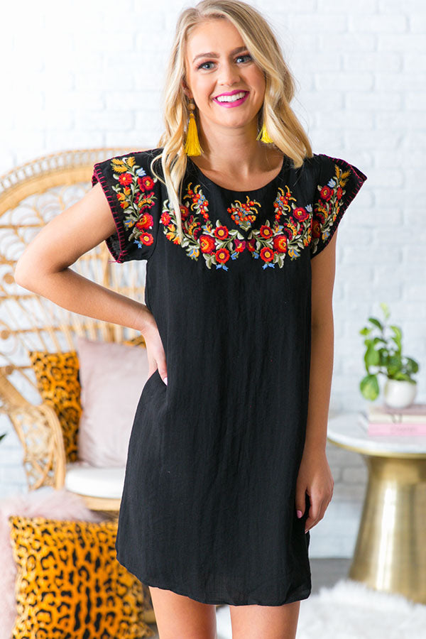 Finding Forever Embroidered Shift Dress