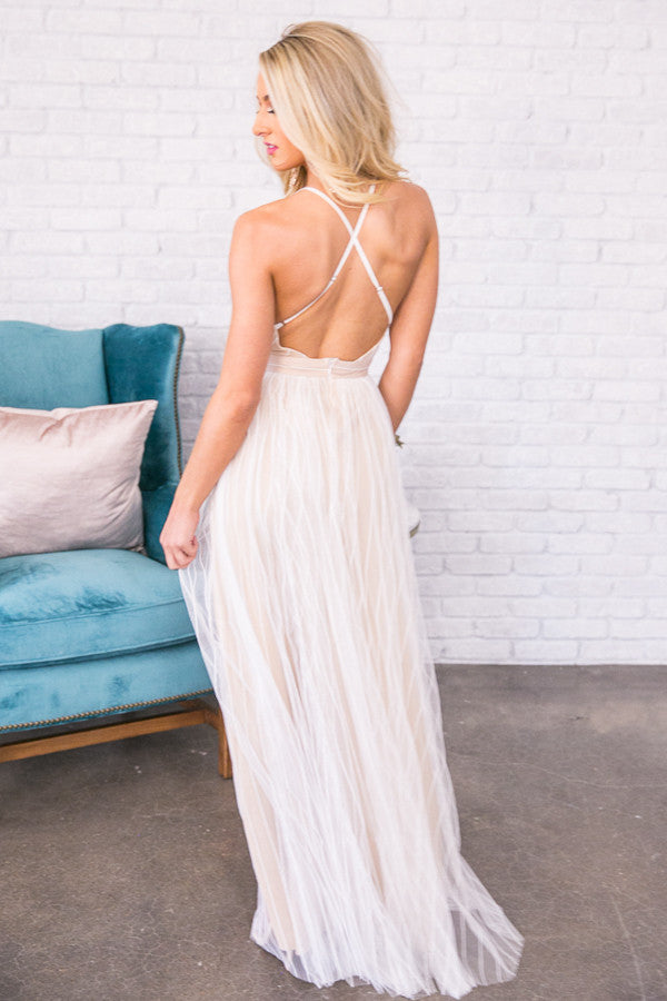 Alluring Love Maxi Dress in White