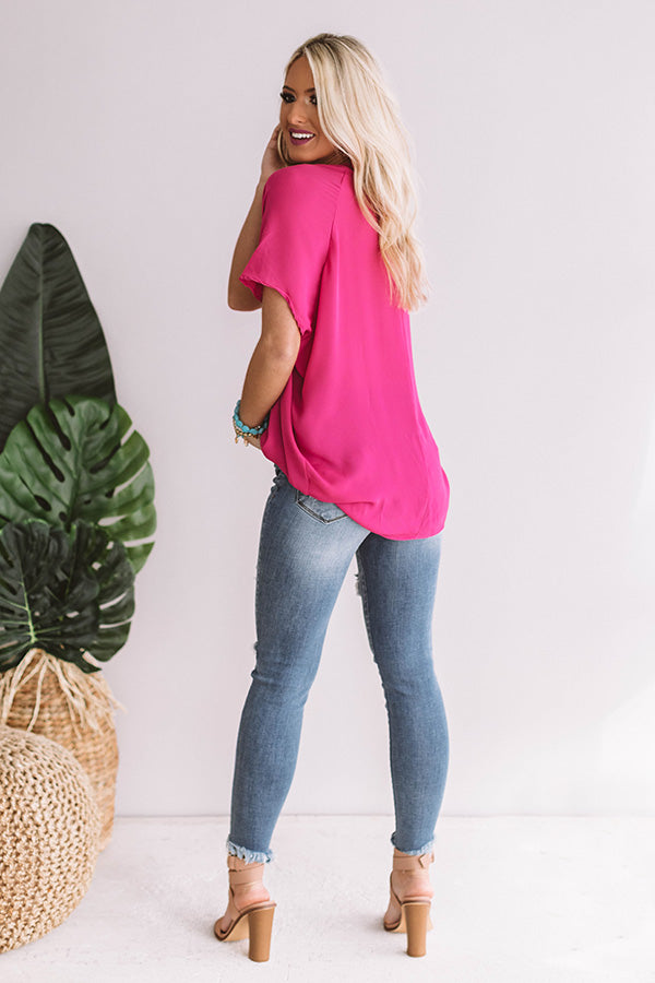 Light Up The Night Tunic in Hot Pink