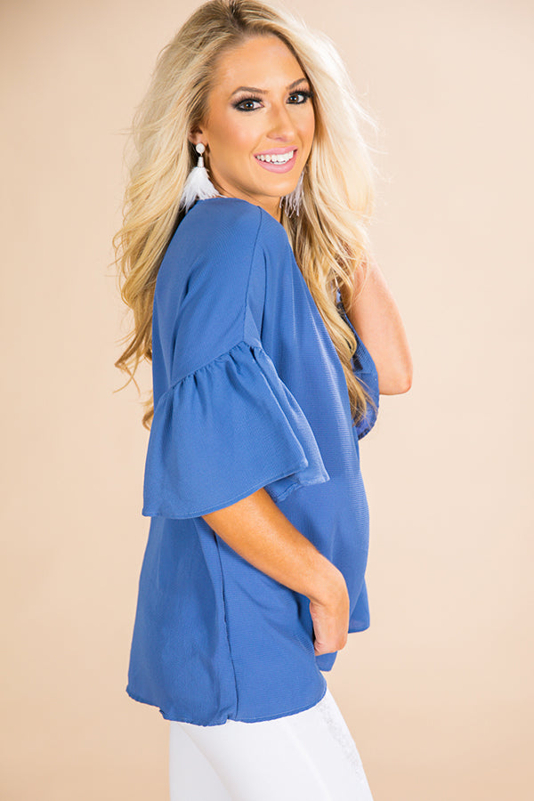 Oh So Swept Away Shift Top in Airy Blue