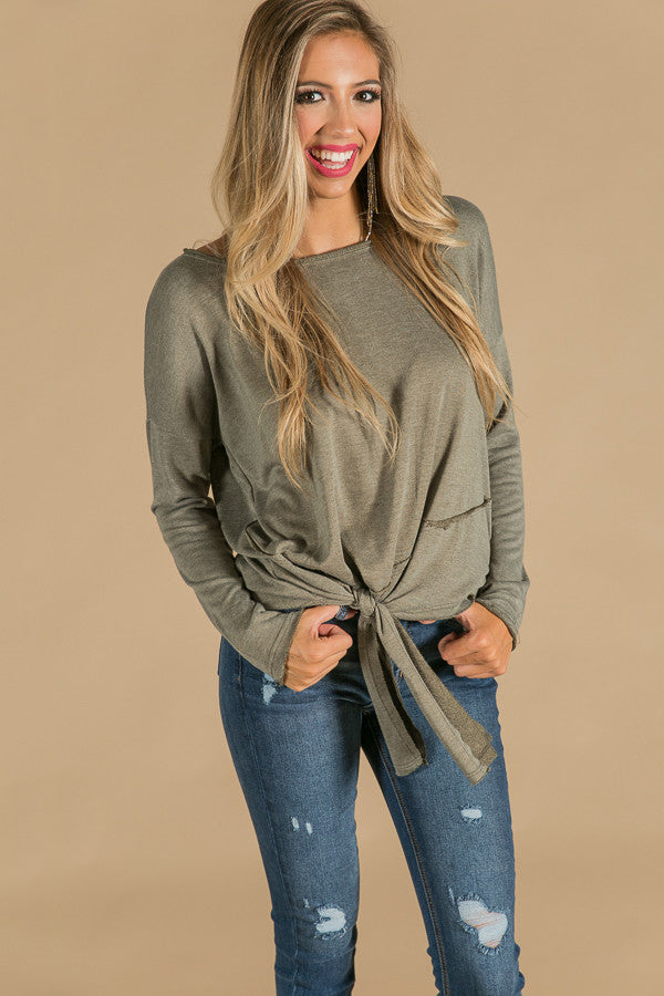 Sonoma Sipping Sweater in Olive