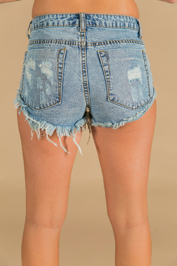 Concert Series Distressed Shorts