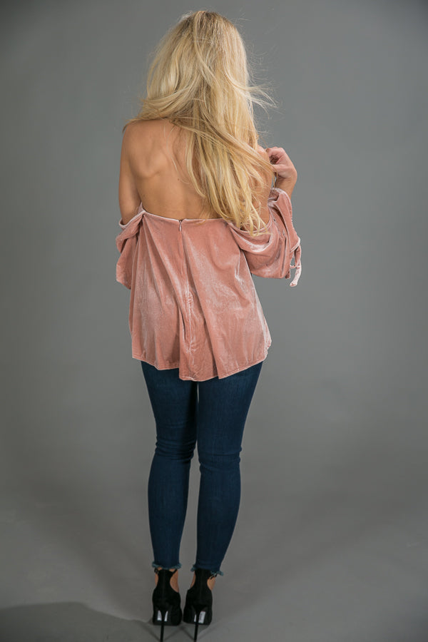 Pure Romance Off Shoulder Velvet Top