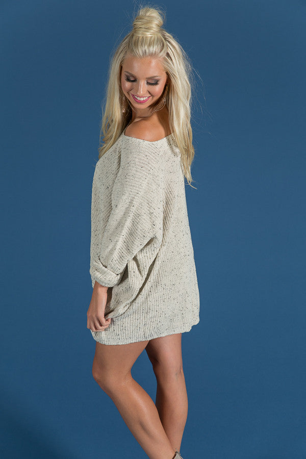 Latte Crush Knit Sweater in Cream