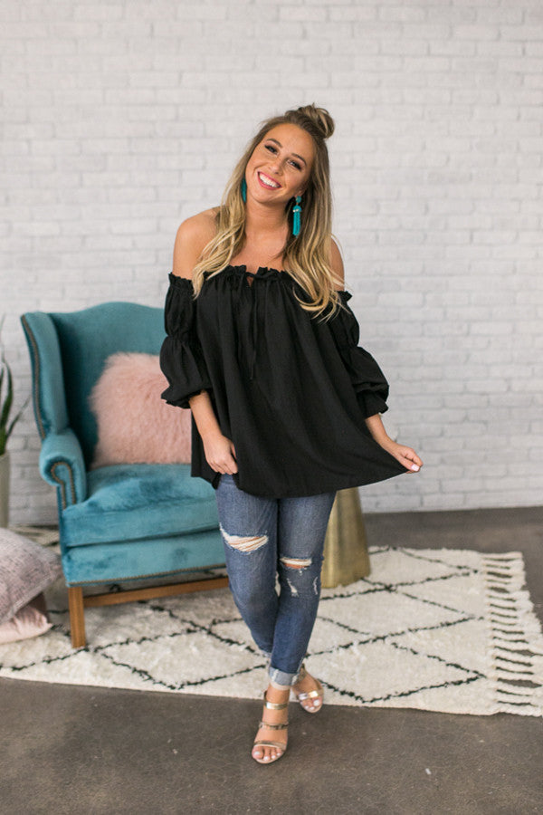 Date Night Dreaming Off Shoulder Top