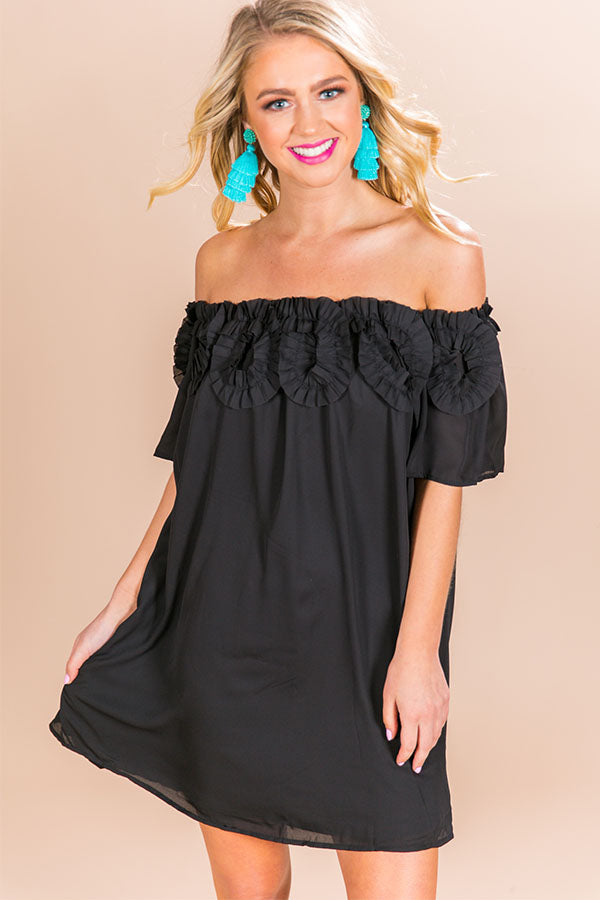 387868b0d72e Dreams Come True. Loading... Pin it. Ruffles and Romance Off Shoulder Shift  Dress