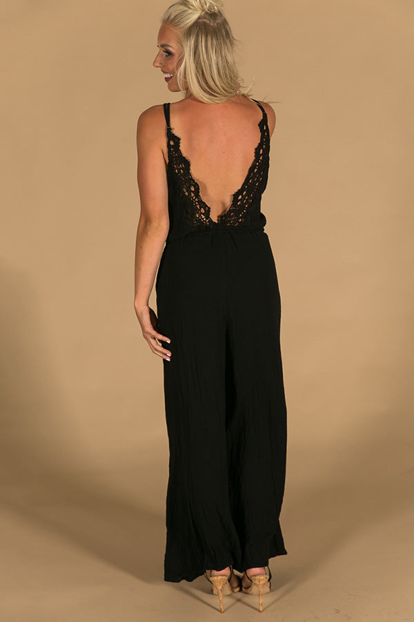 Quest To Gorgeous Jumpsuit in Black