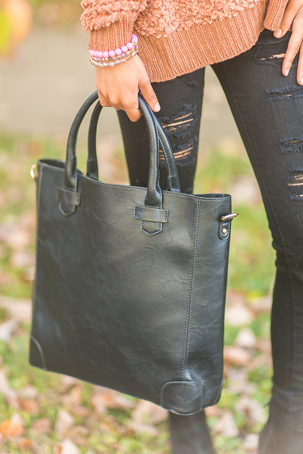 Fashion Week's Finest Tote in Black