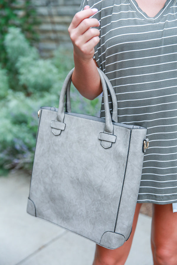 Fashion Week's Finest Tote in Grey
