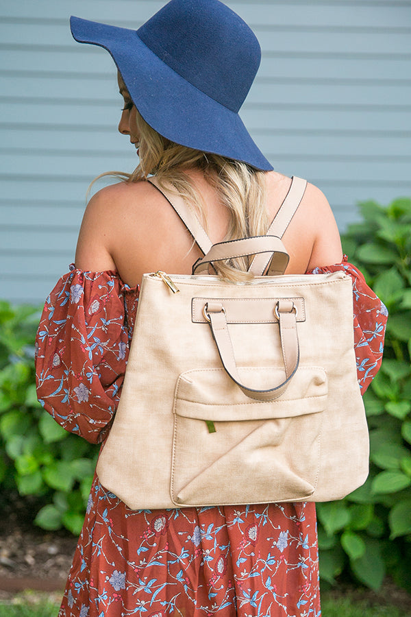 Fashion Fix Backpack in Tan