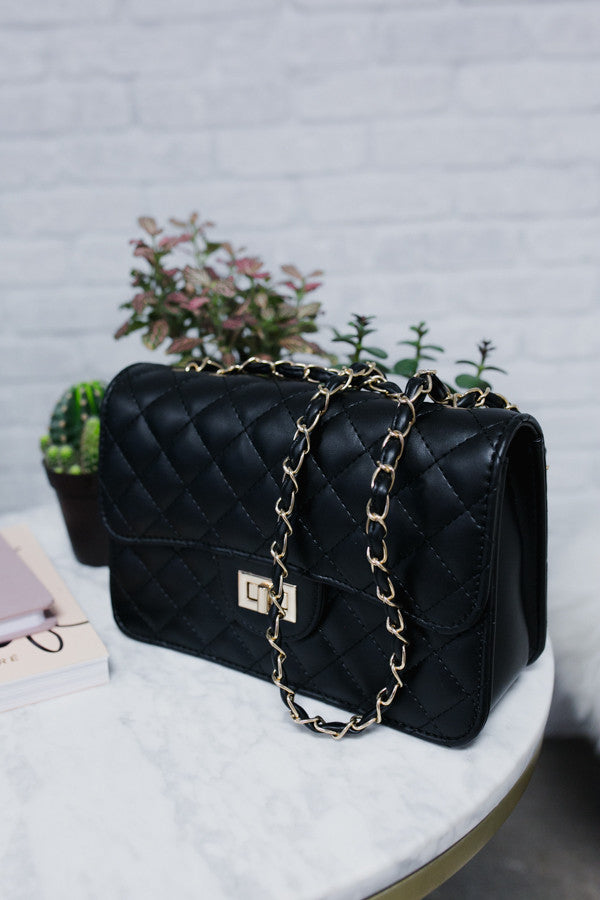 Love Goes On Purse in Black