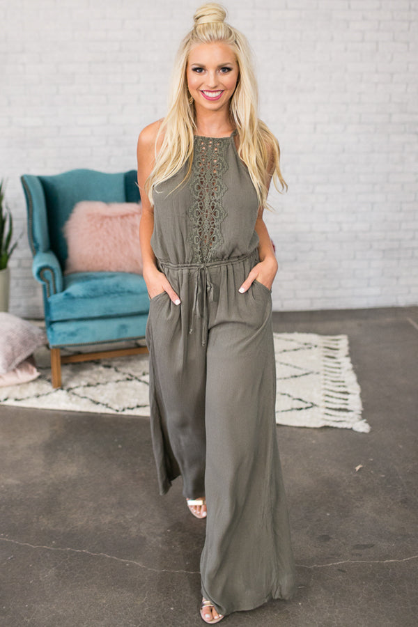 Quest To Gorgeous Jumpsuit in Sage