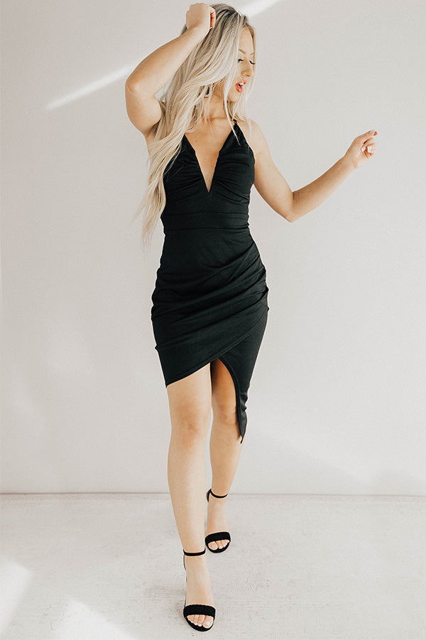 Take The Plunge Dress in Black