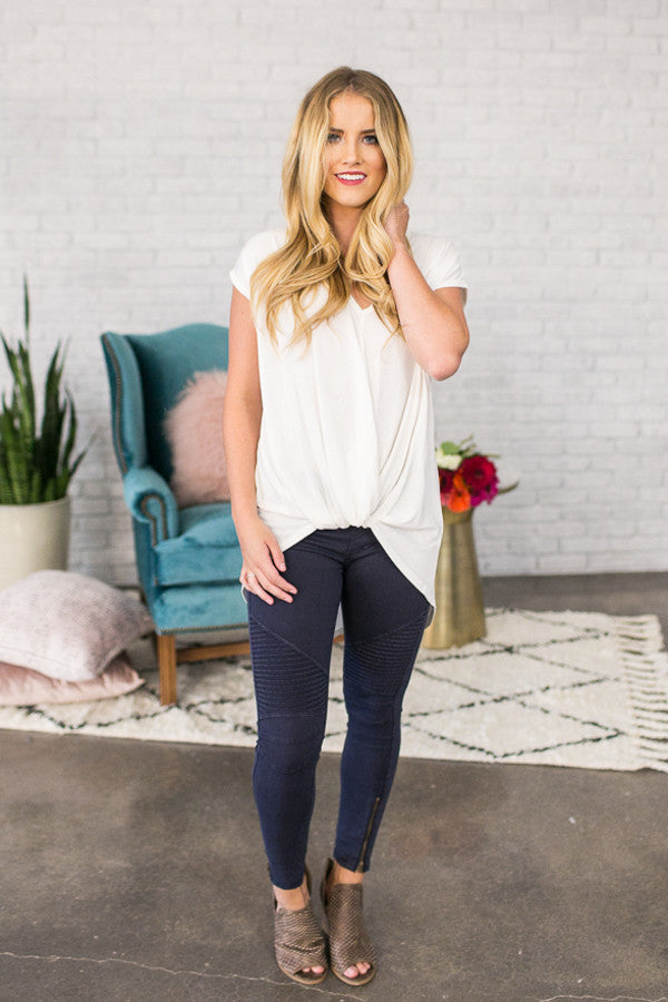 The Tallulah Legging in Navy