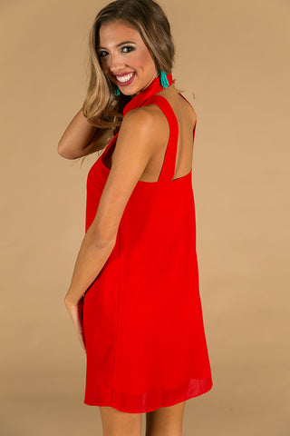 Loving You More Dress in Red