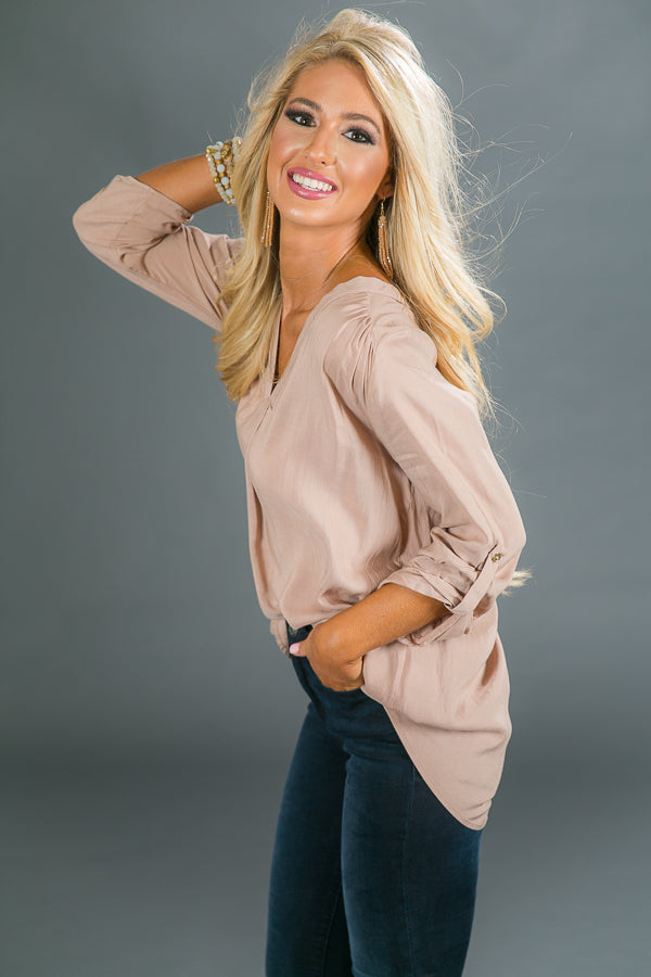 Happy Hour Chic Tunic in Iced Mocha