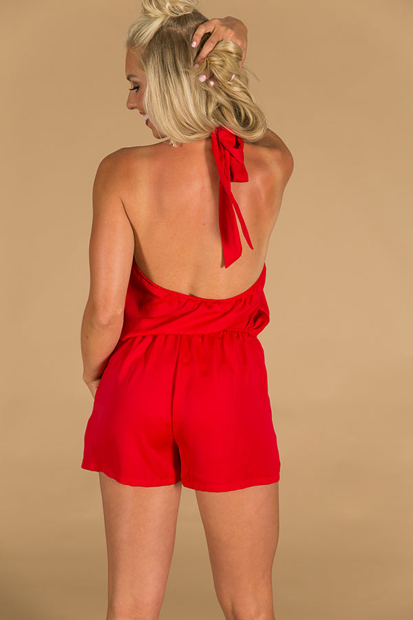It's The One Romper in Red