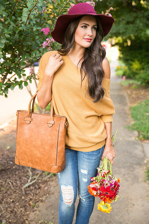 Pumpkin Spice Pretty Sweater in Mustard