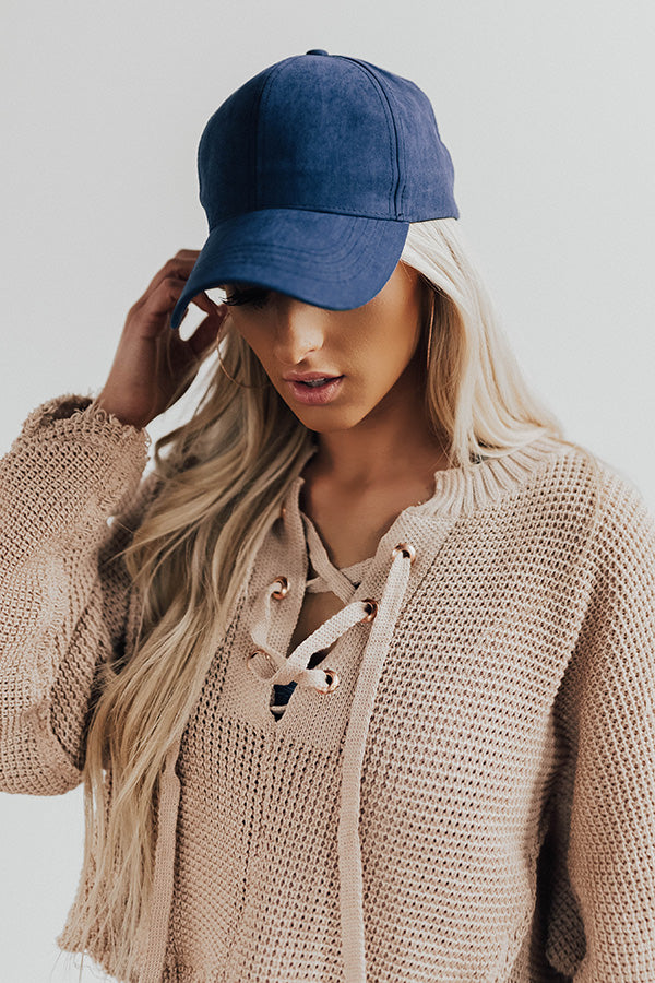 Hey Gorgeous Baseball Cap in Navy