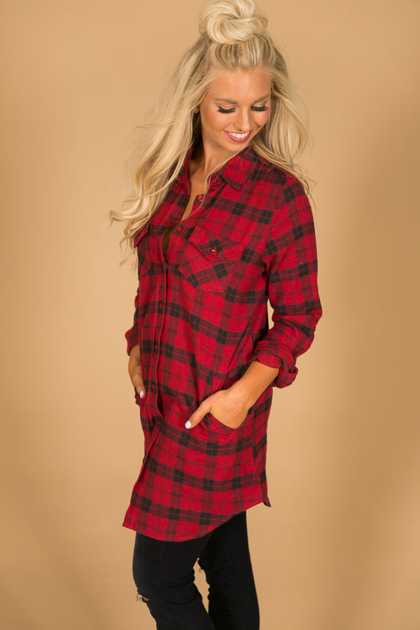 Prettiest In Plaid Tunic