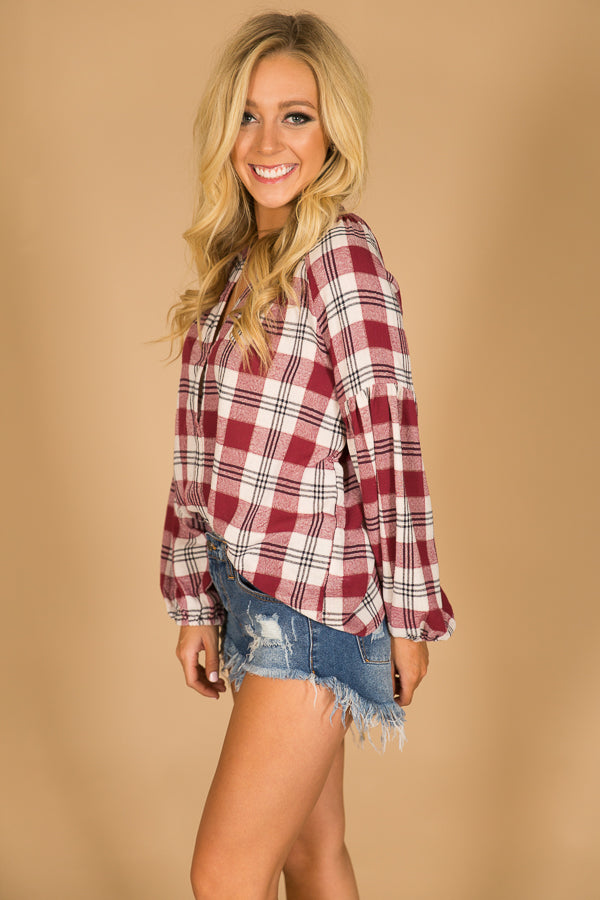 Saturday Down South Plaid Top