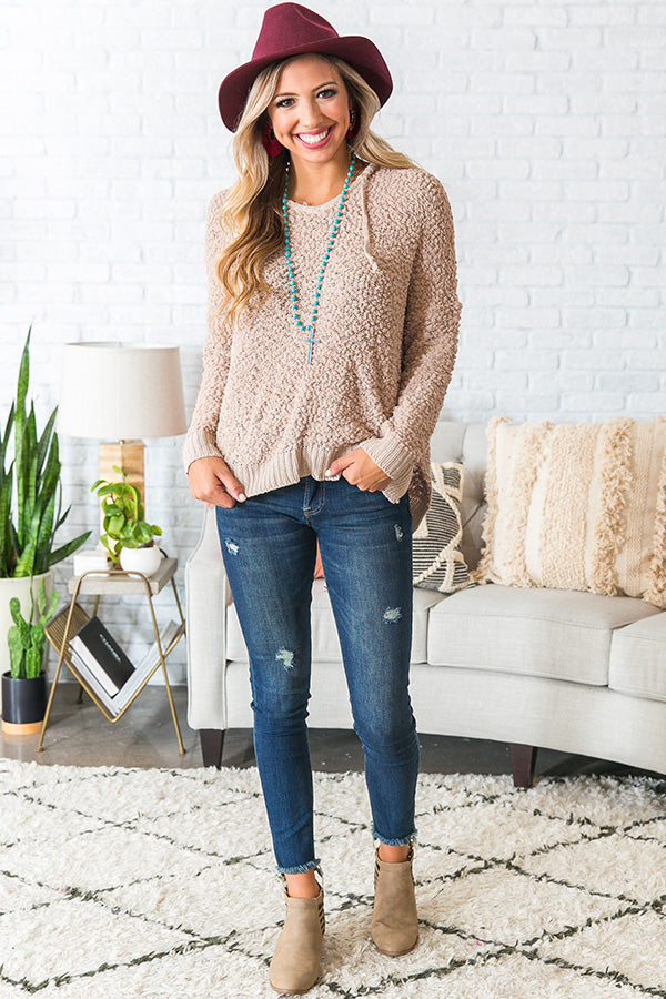 Warm Fuzzy Feelin' Sweater in Iced Mocha