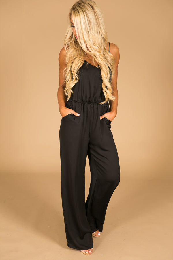 Back By Midnight Jumpsuit in Black