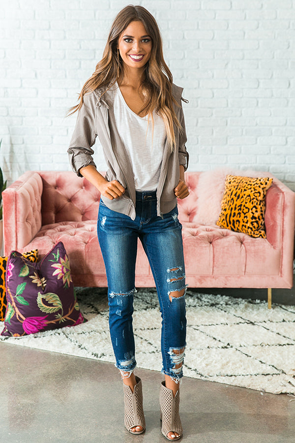 Luxe Life Lightweight Jacket in Taupe