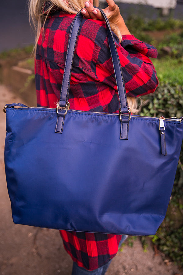Jet Set Life Tote in Navy