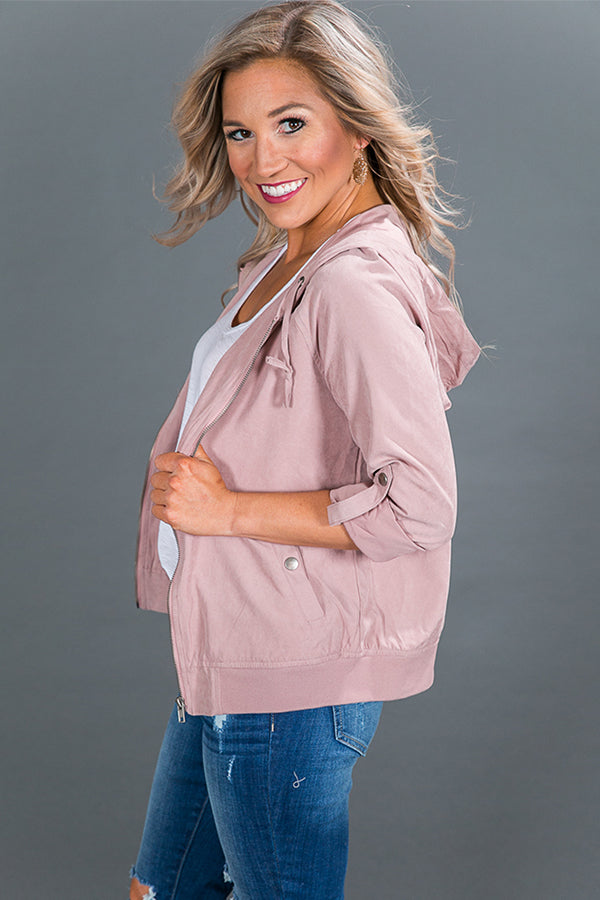 Luxe Life Lightweight Jacket in Blush