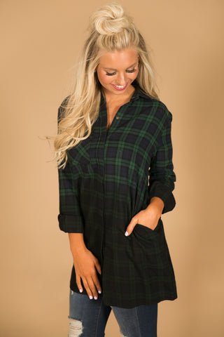 My Favorite Ombre Flannel in Green