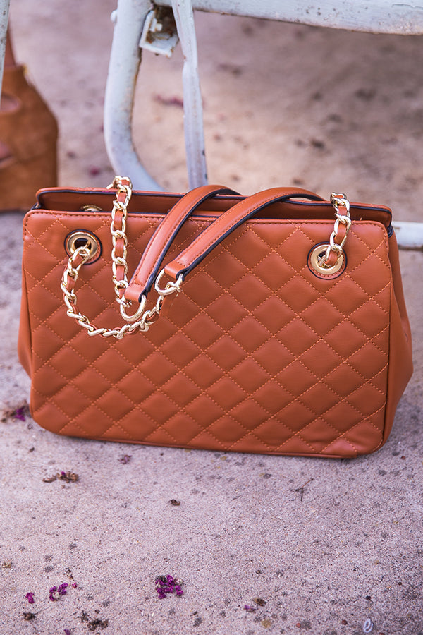 Coco in the City Quilted Bag in Maple
